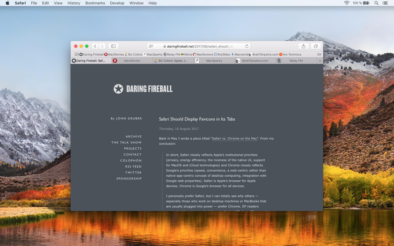 Faviconographer — Tab Favicons in Safari for Mac