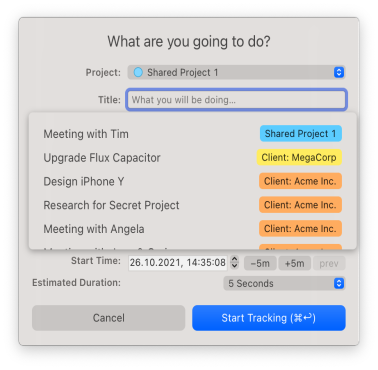 Timing for Power Users — Timing — Automatic macOS Time