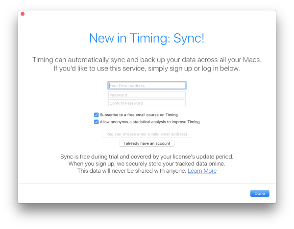 Introducing Timing Sync: Now tracking time across all your Macs
