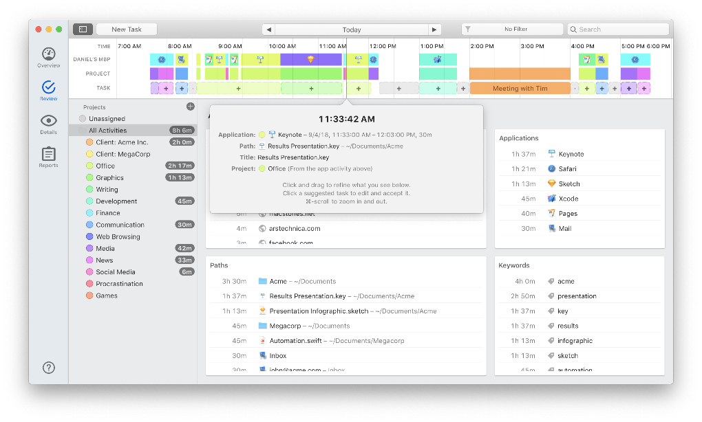 Optimize time tracking