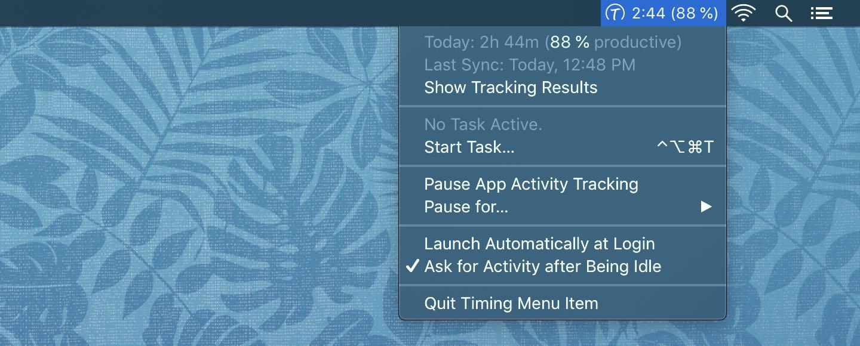 Create tasks timing